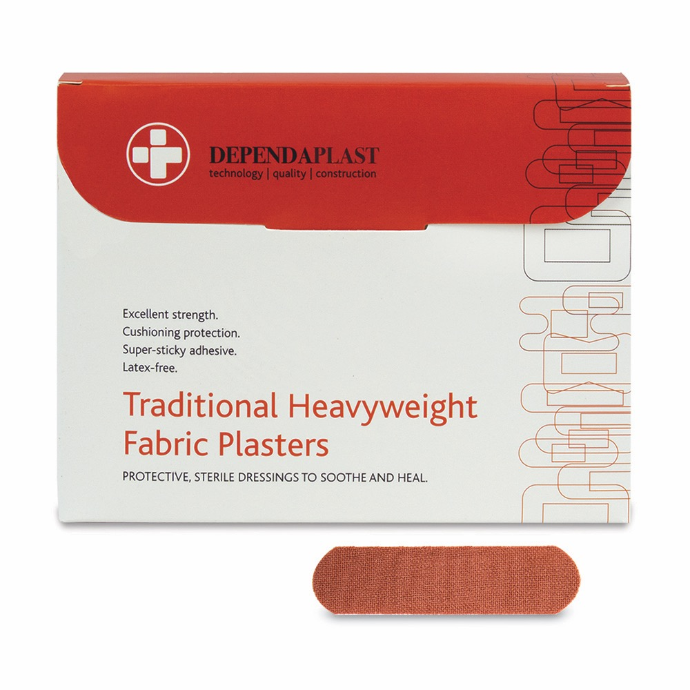 Dependaplast Traditional Fabric Plasters, Sterile, 7cm x 2cm , 10 x  Box of 100
