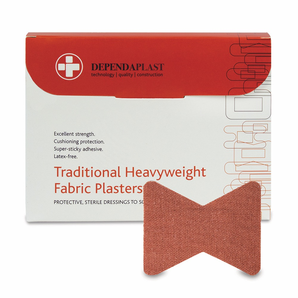 Dependaplast Traditional Fabric Plasters, Sterile, Fingertip , 10 x  Box of 50