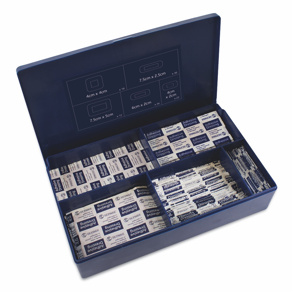 Dependaplast Advanced Fabric Plasters, in Blue Plastic Box. Assorted, Assorted , 1 x  Box of 120