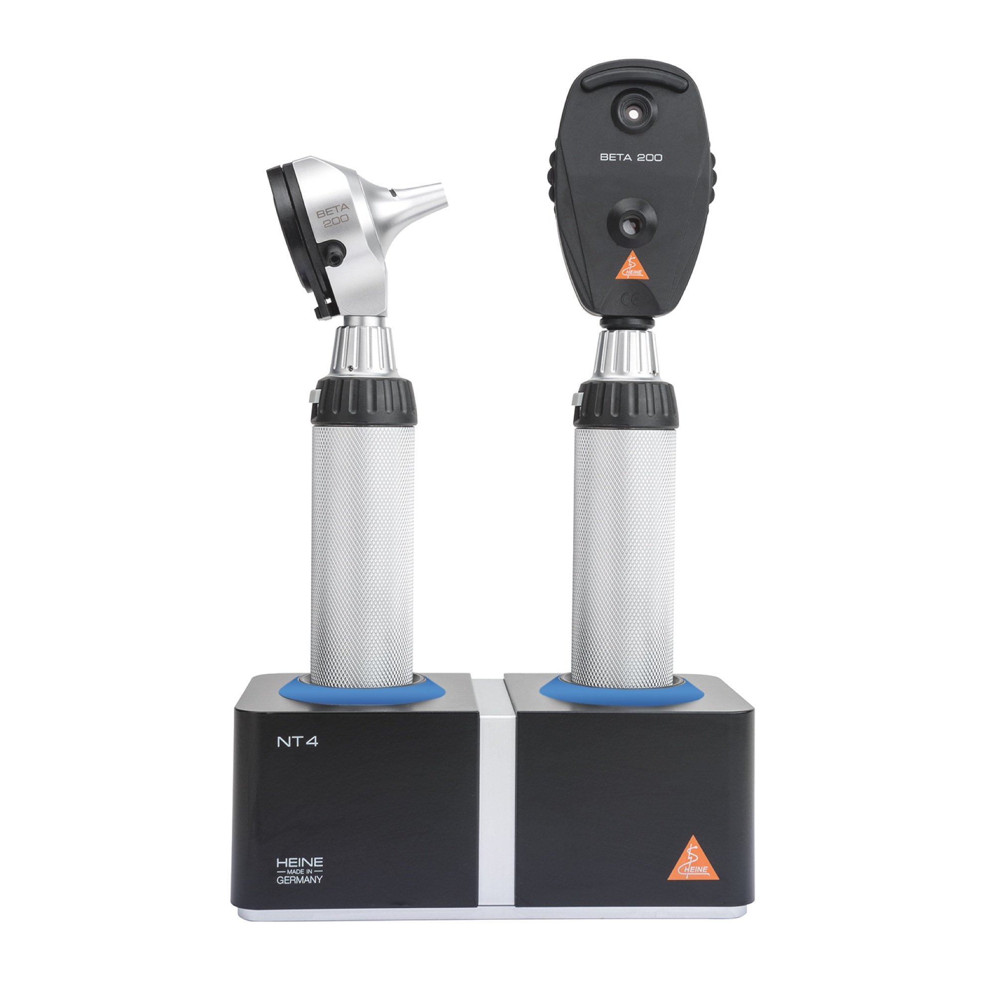 HEINE LED Diagnostic Desktop Kit: BETA 200 LED Otoscope & BETA 200 Ophthalmoscope (with NT4 Table Charger)