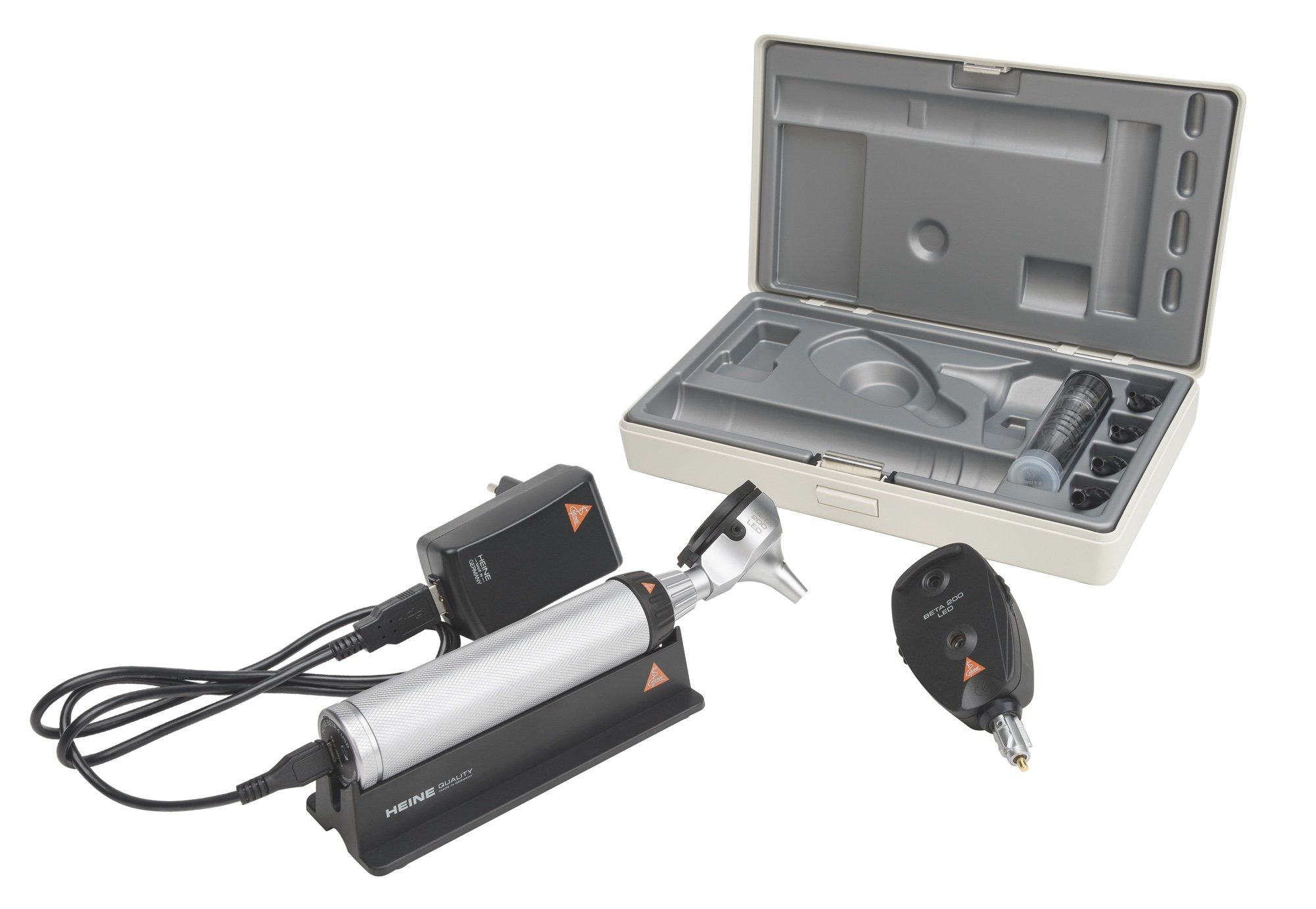 HEINE BETA 200 LED Diagnostic Set with BETA4 USB Rechageable Handle
