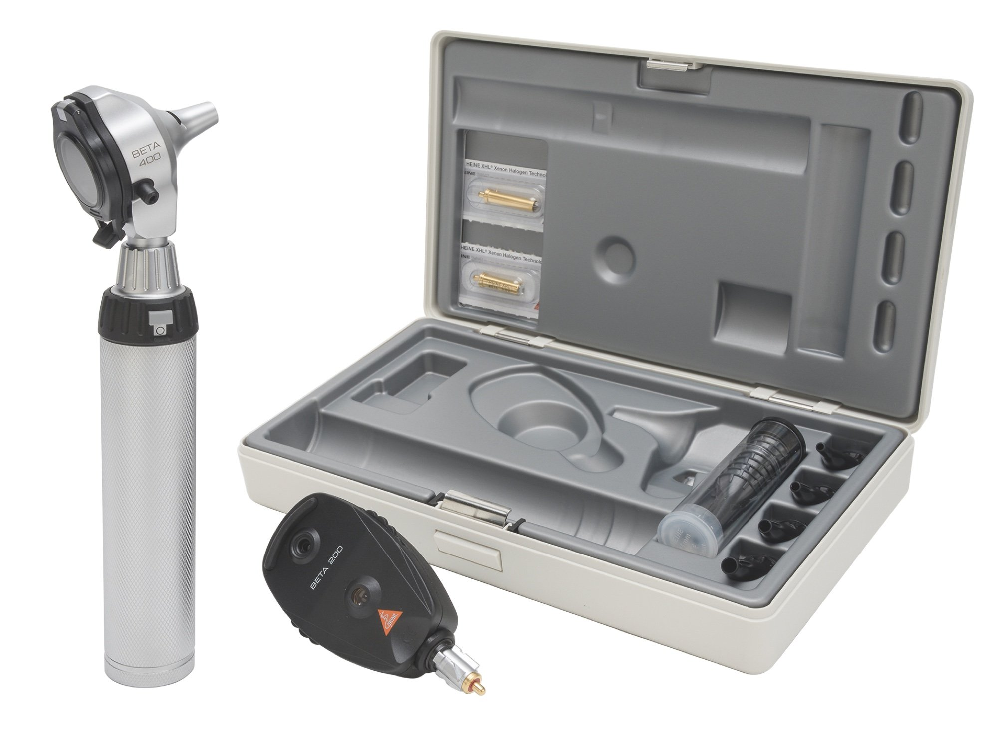 HEINE Diagnostic Set: BETA 400 F.O Otoscope & BETA 200 Opthalmoscope (Battery Handle)