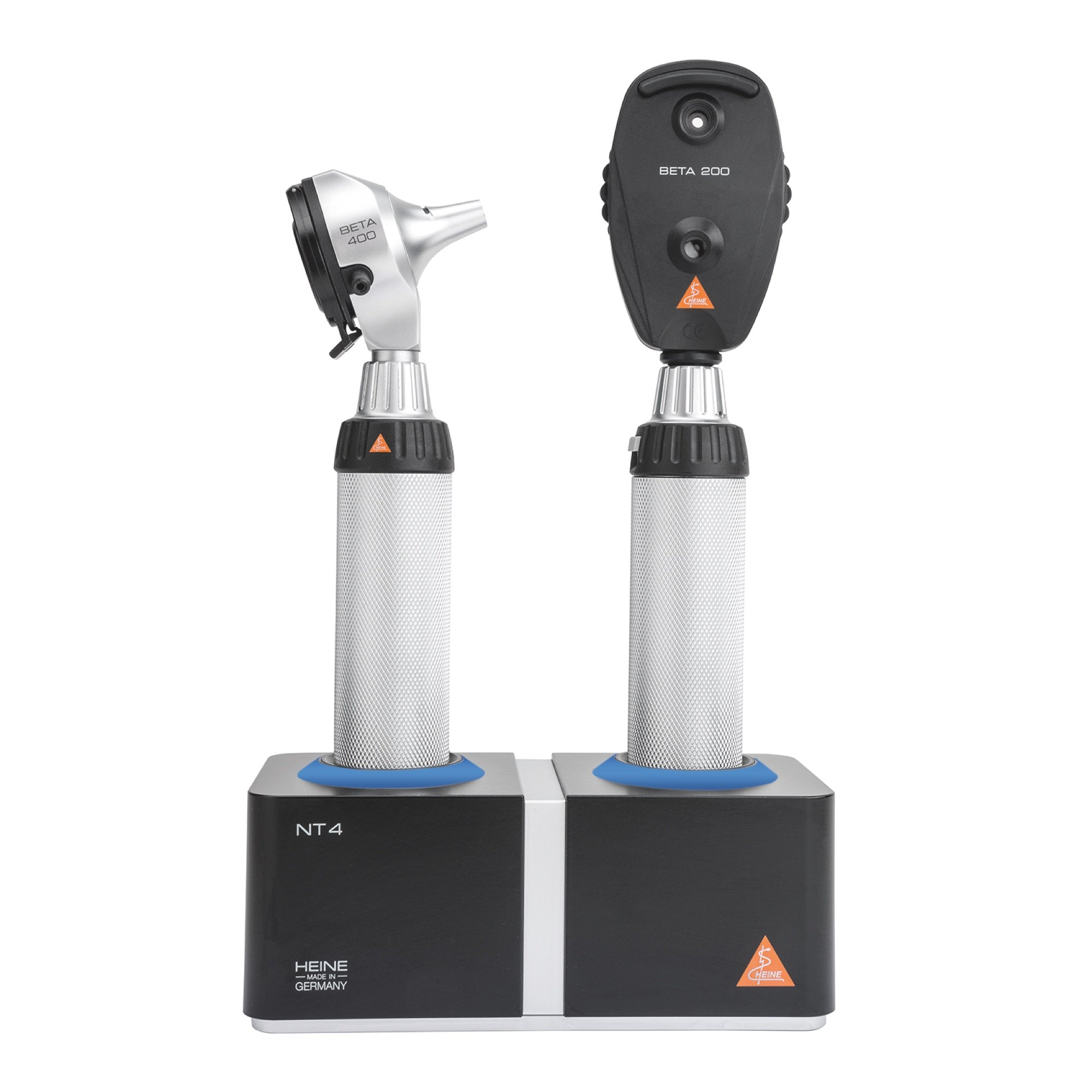 HEINE LED Diagnostic Desktop Kit: BETA 400 LED Otoscope & BETA 200 Ophthalmoscope (with NT4 Table Charger)