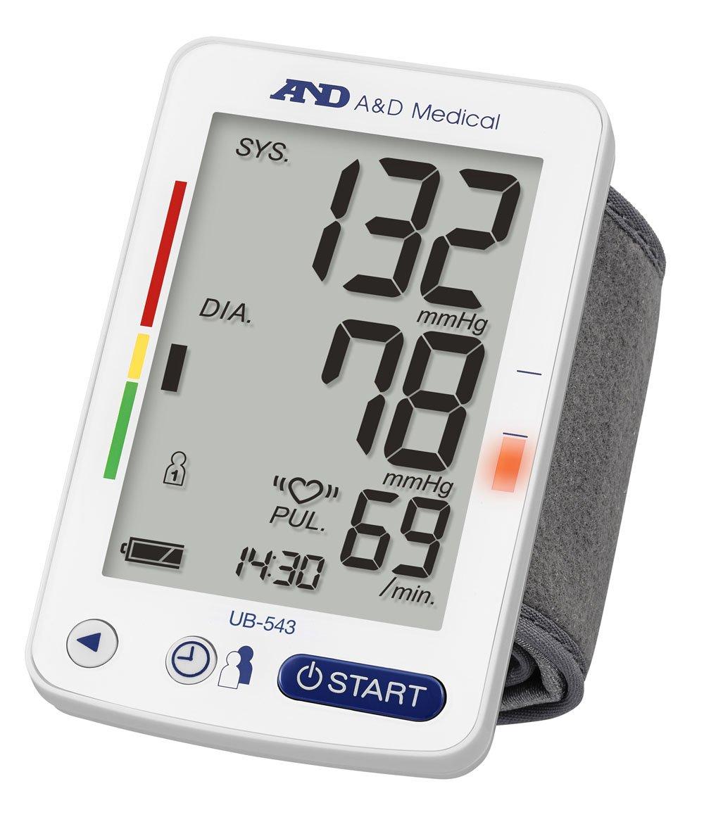 A&D UB-543 Wrist Blood Pressure Monitor with Afib Screening
