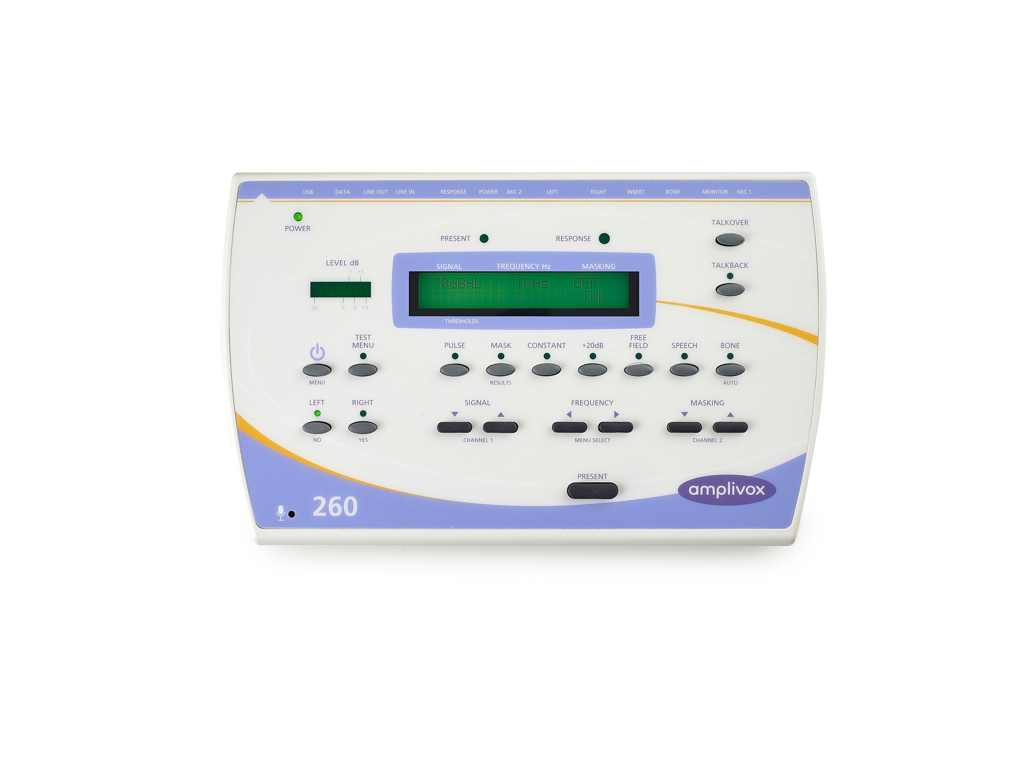 Amplivox 260 Diagnostic Audiometer with Audiocups