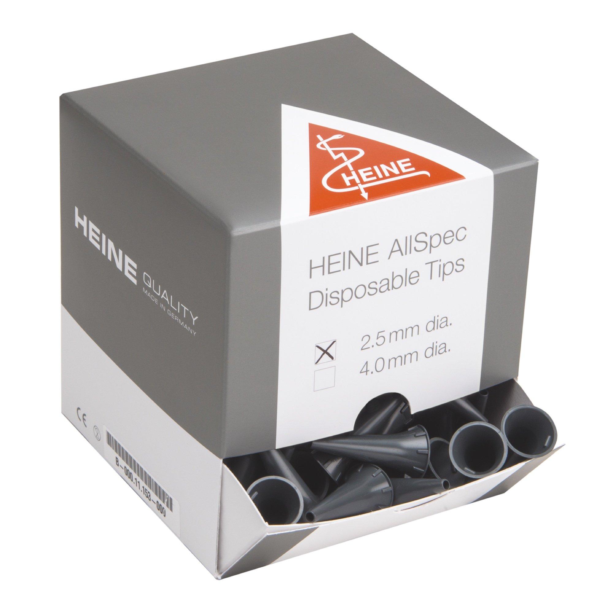 2.5mm Disposable tips dispenser pack for HEINE BETA 200/K180/mini3000 (Pk/250)