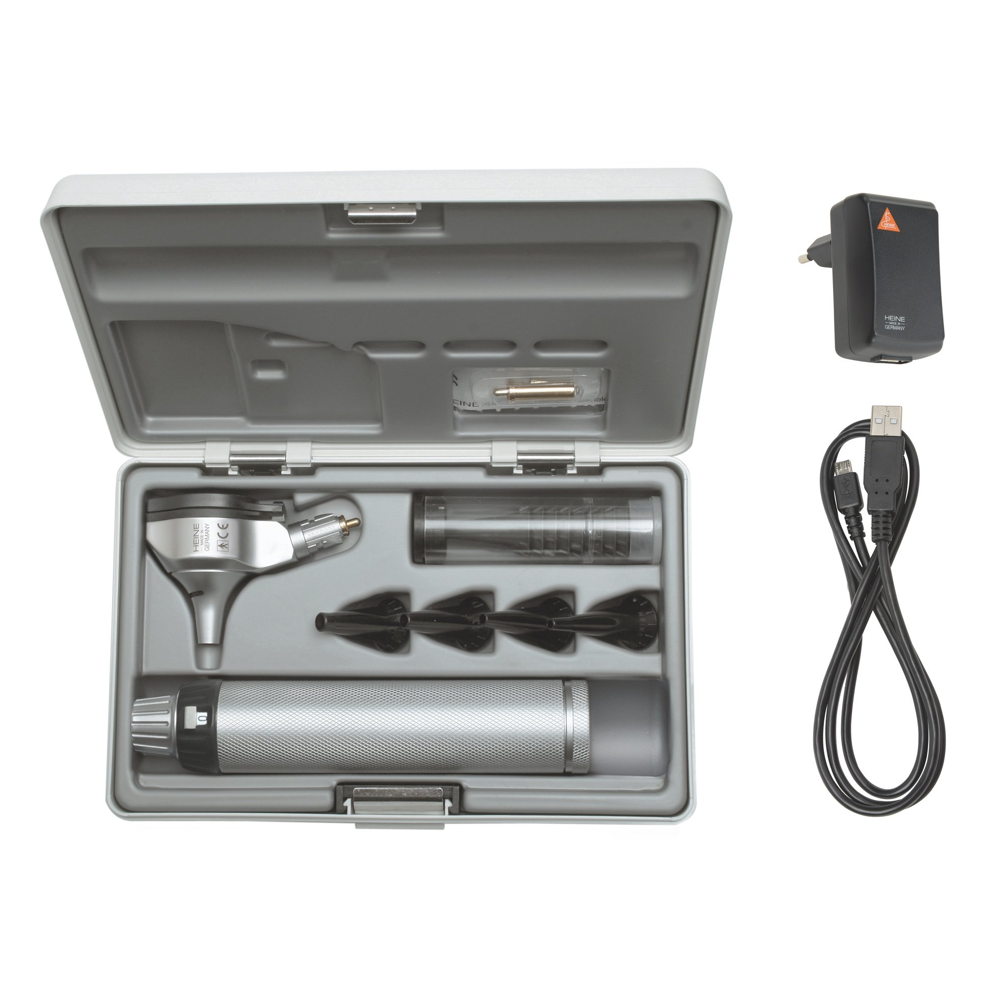 HEINE BETA 200 F.O Otoscope Set with BETA4 USB rechargeable handle