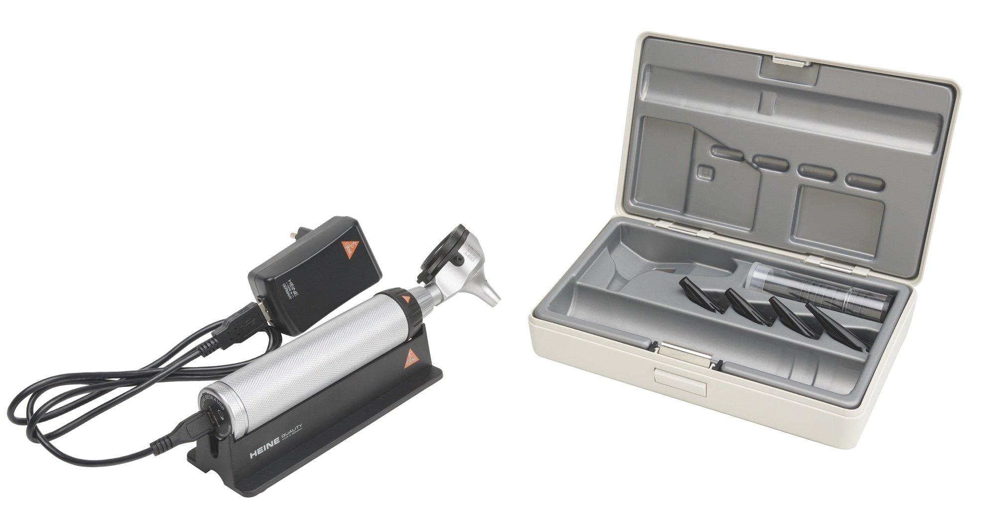HEINE BETA 200 LED Otoscope Set with BETA4 USB rechargeable handle