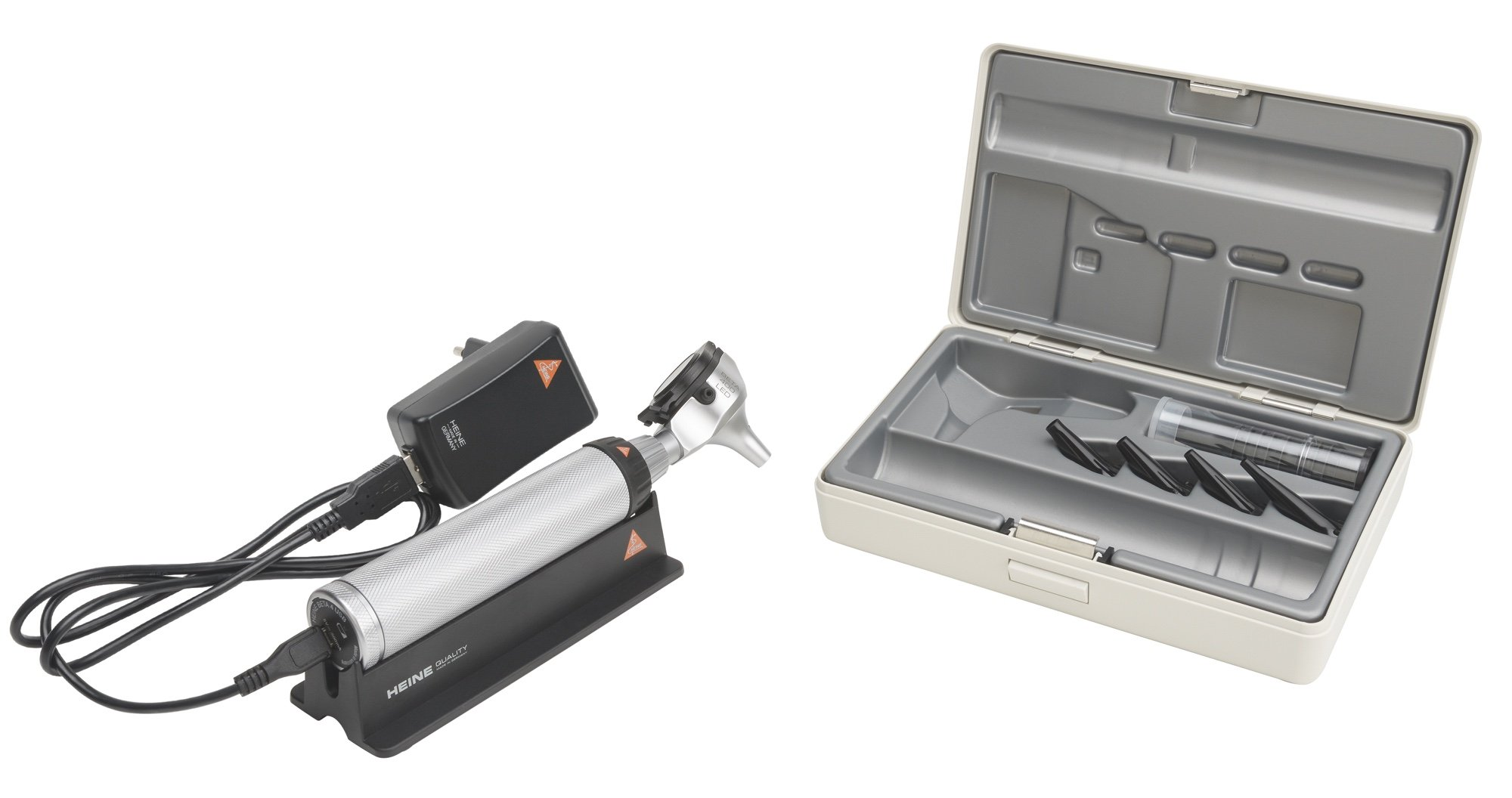 HEINE BETA 400 LED Otoscope Set with BETA 4 USB rechargeable handle