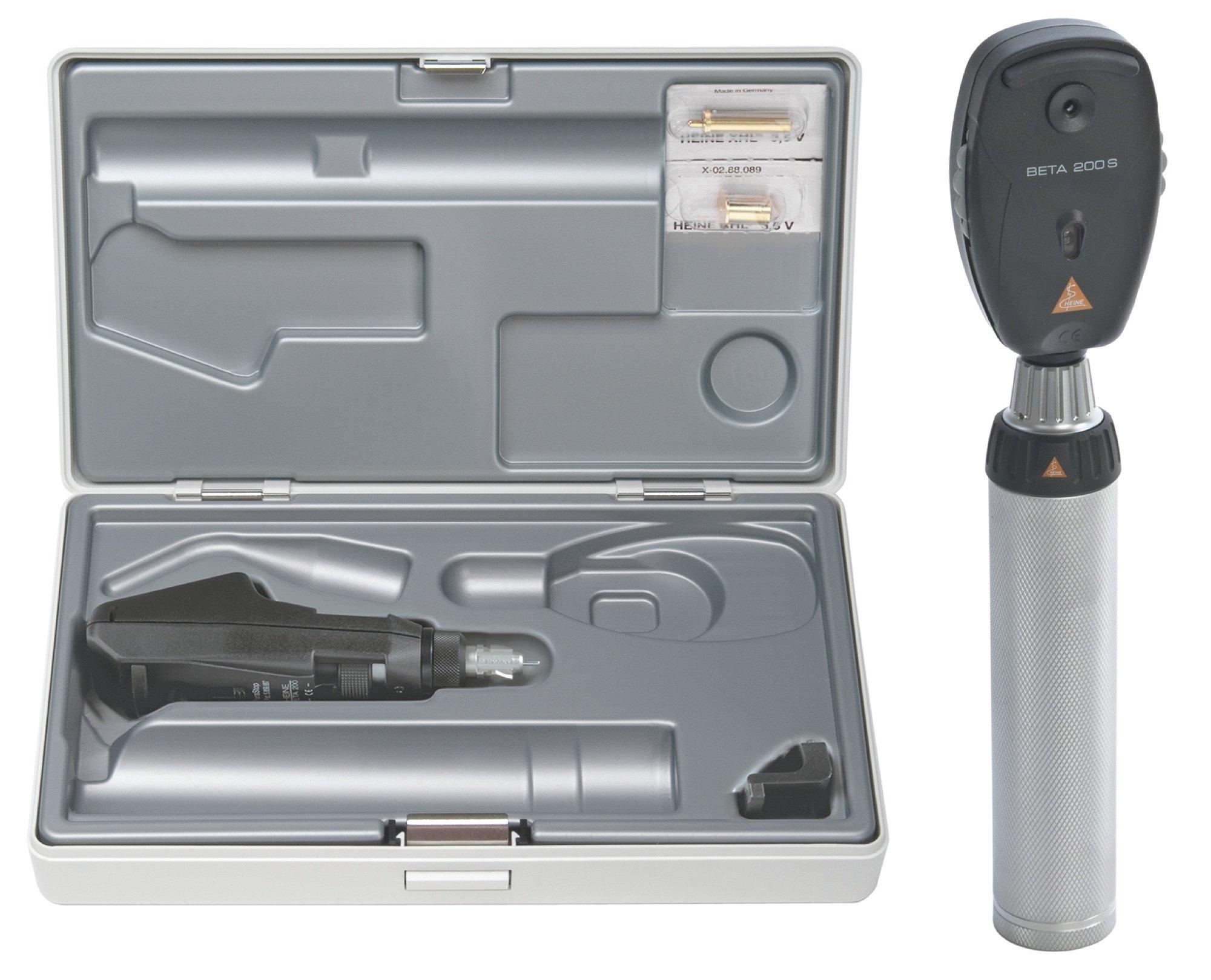 HEINE BETA200 S Opthalmoscope/BETA 200 Streak Retinoscope Diagnostic Set with Battery Handle