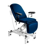 Sunflower Fusion Phlebotomy Chair - Electric Height Adjustment, Gas Assisted Head & Foot Sections