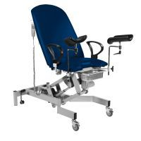 Sunflower Fusion GYNAE, 2 Section Electric Couch, Gas Assisted Back, No Seat Tilt, Arm Supports & Leg Supports