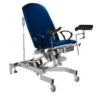 Sunflower Fusion GYNAE, 2 Section Electric Couch, Gas Assisted Back, Powered Tilting Seat, Arm Supports & Leg Supports