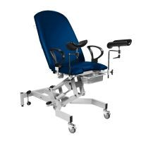 Sunflower Fusion GYNAE, 2 Section Hydraulic Couch, Gas Assisted Back, No Seat Tilt, Arm Supports & Leg Supports