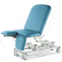 Seers Medicare Bariatric Drop End Couch with Electric Height, Backrest and Dual Foot Section-Retractable Wheels-105cm wide