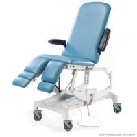 Seers Clinnova Podiarty Pro Couch with Electric height, backrest, footrests, tilt & CPR. Vertical Lifting and Individually Braking Castors - Classic Base