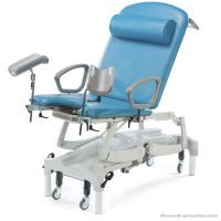 Seers Clinnova Gynae Pro Couch with Electric Height, Backrest, Tilt & CPR and Vertical Lifting. Linked Retractable Wheels and Digital Hand Set-Classsic Base