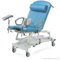 Seers Clinnova Gynae Pro Couch with Electric Height, Backrest, Tilt & CPR and Vertical Lifting. Central Locking Wheels and Digital Hand Set-Classsic Base