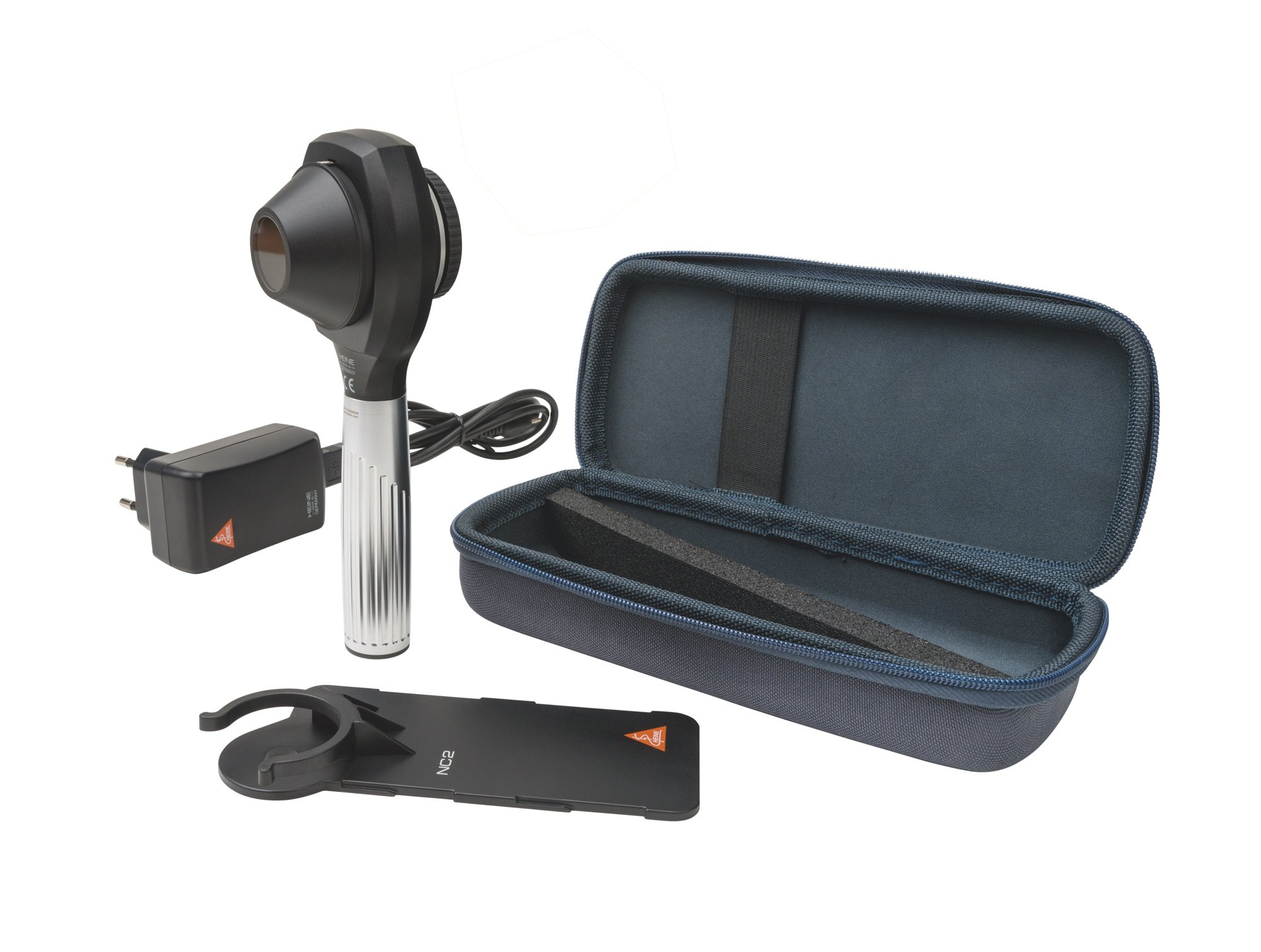HEINE NC2 Dermatoscope Set with Contact Plate & Scale