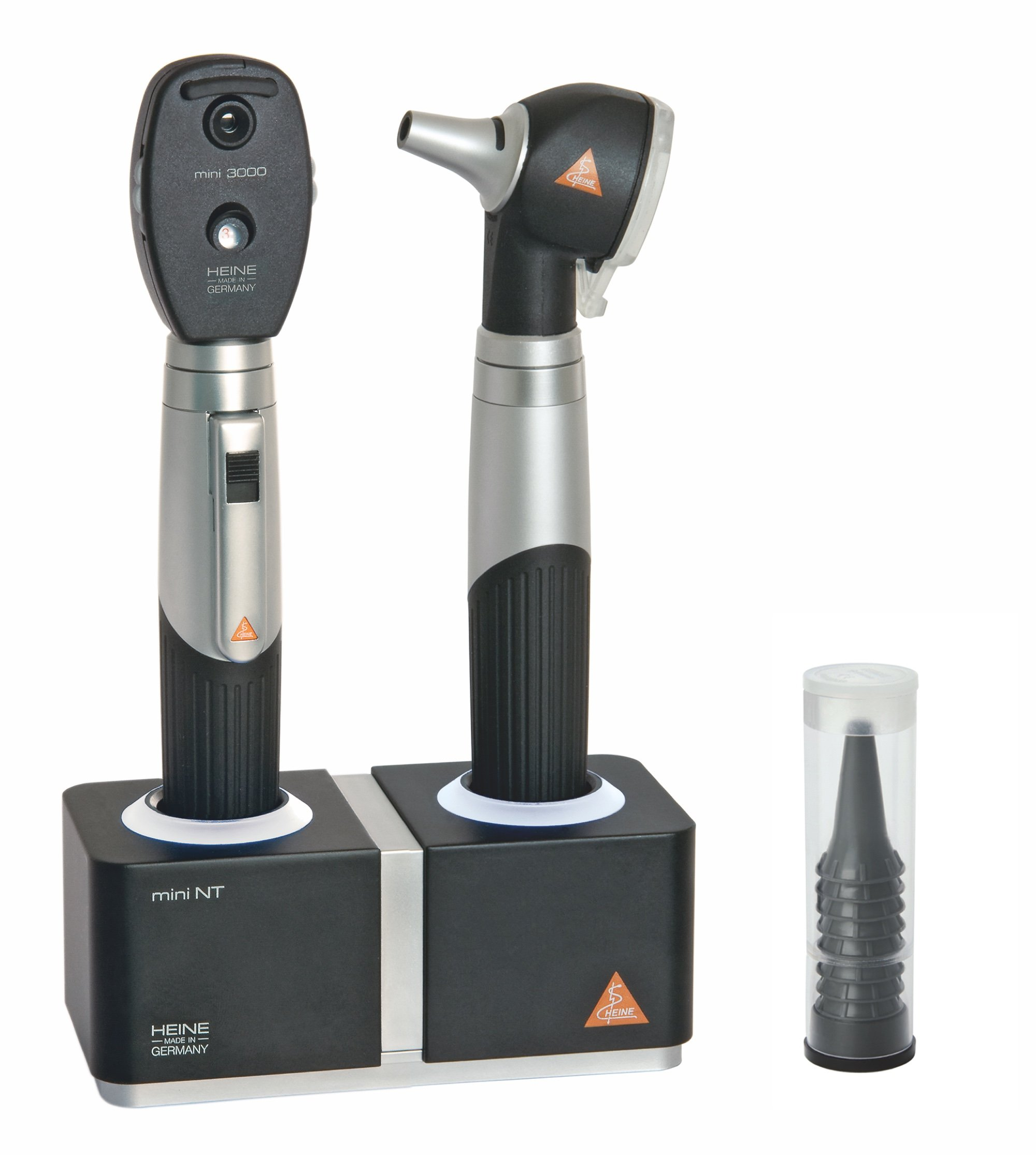 HEINE mini3000 F.O Otoscope/Ophthalmoscope Set with MiniNT Charger
