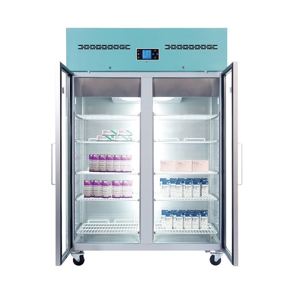 LEC PGR1200UK Freestanding 1200L Pharmacy Fridge (Glass Door)