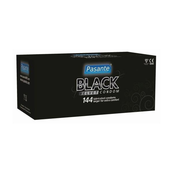 Pasante black velvet condoms, clinic pack (box of 144)