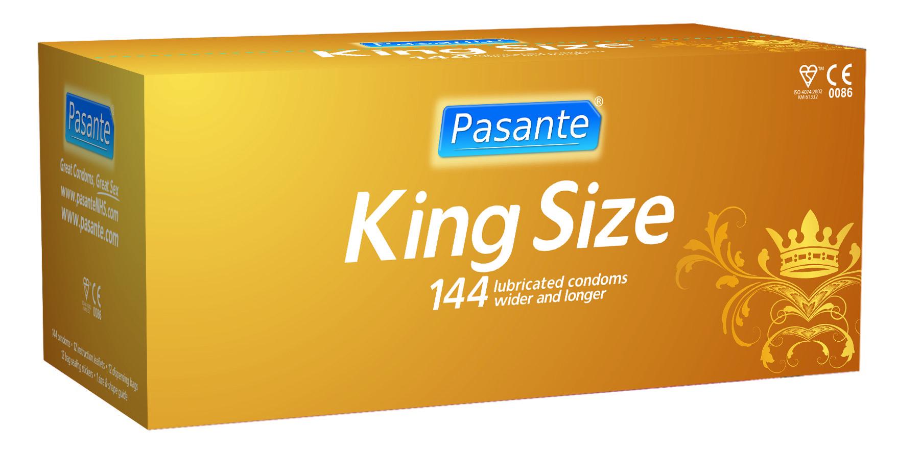 Pasante king size condoms, bulk pack (pack of 144)