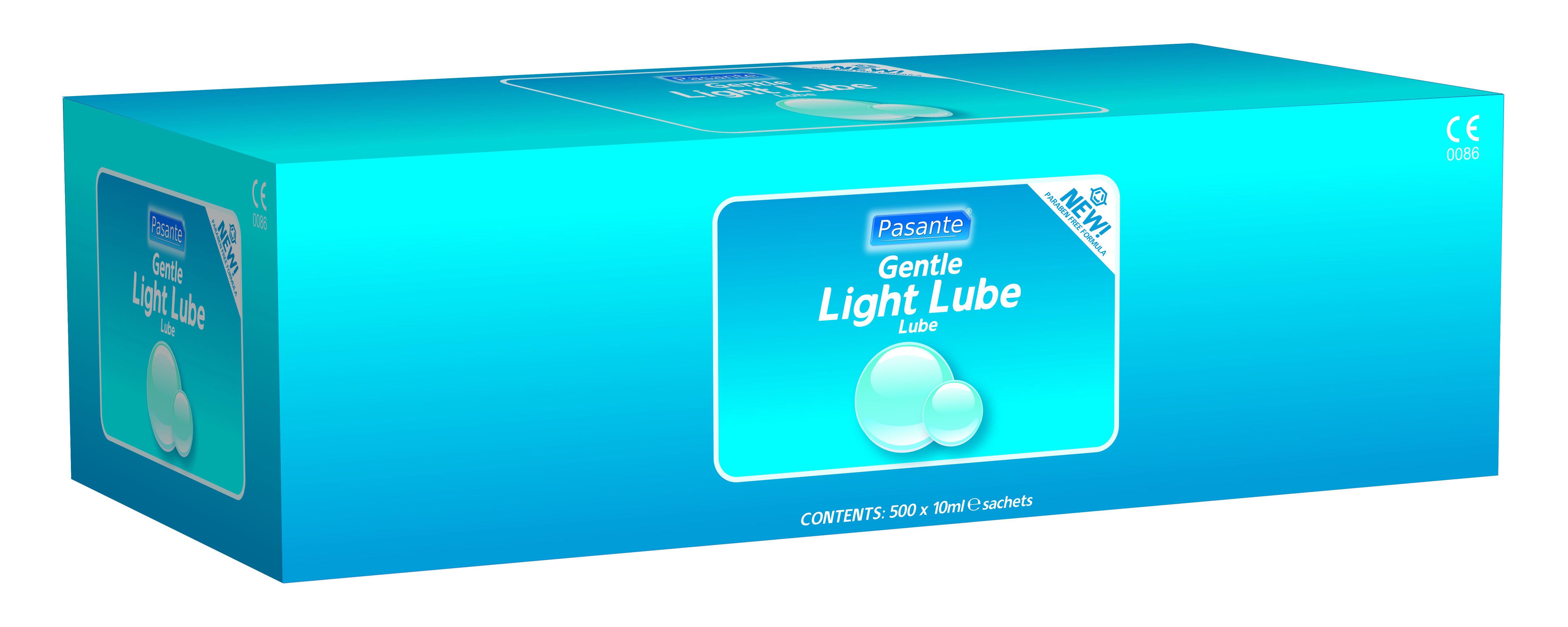 Pasante light lube 10ml sachets X 500 - paraben free