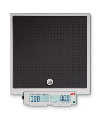 SECA 878 Mobile Electronic Flat Scale with Push Buttons and Double Display