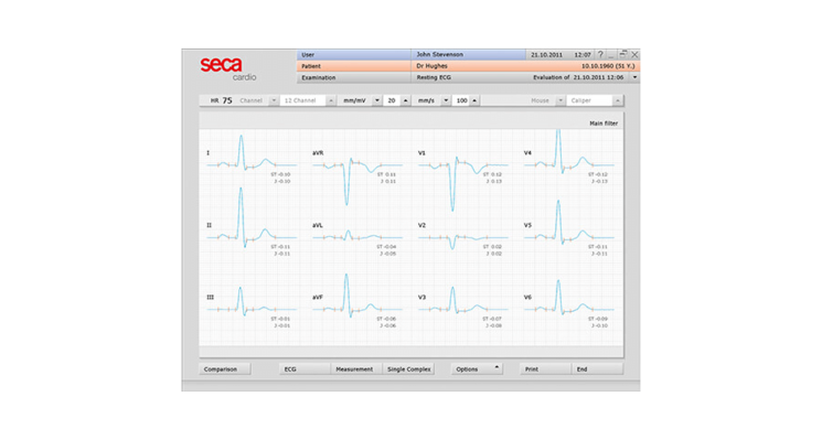 SECA CT320 Interpretive PC ECG with USB connectivity (Discontinued)