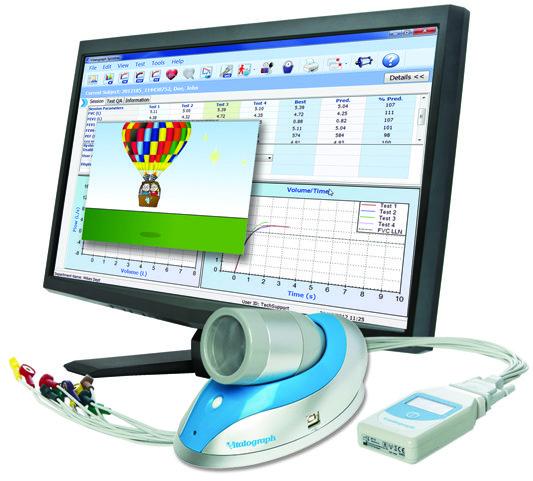 Vitalograph Pneumotrac Spirometer with Spirotrac Software